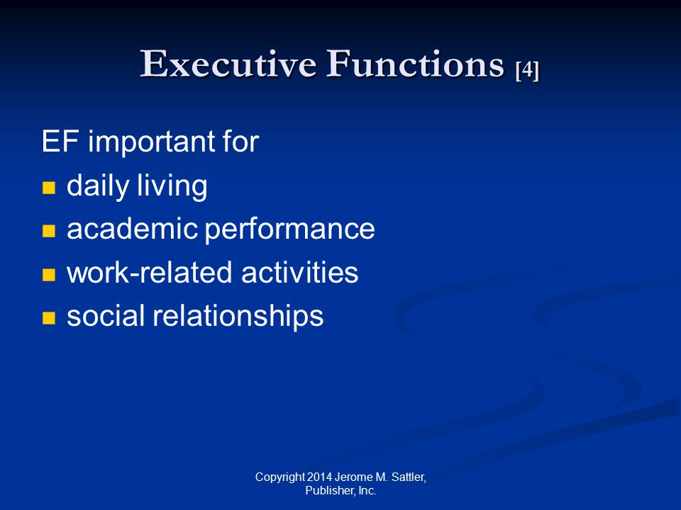 Executive Functions [4]